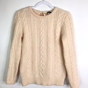 Zara knits cable knit Sweater tie neck